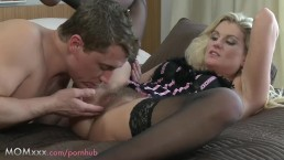 MOM Hairy MILF makes love to her man