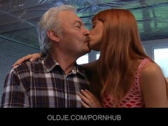 Young Erica fucks the Old grandpa