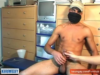 Arab guy get wanked in spite of him !