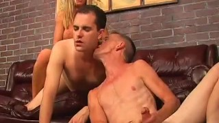 Bi Bi American Pie 6 - Scene 3  bi cumshots threesome anal fmm heels pornhub.com pegging trimmed guy-on-guy blowjob blonde