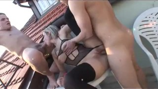 Bi Now Gay Later 2 - Scene 5  daisy chain big tits outdoor euro blowjob cumshot stocking bi vibrator heels shaved facial pornhub.com pussy licking rooftop