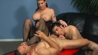 Bi Partisan 3 - Scene 1 videos strap-on pegging 69 raven pornhub-com bi blowjob cumshots big-tits anal brunette stockings pussy-licking ass-fucking