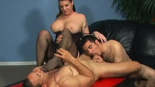Bi Partisan 3 - Scene 1  strap on big tits ass fucking pegging raven blowjob 69 bi cumshots brunette cougar mother anal stockings pornhub.com pussy licking