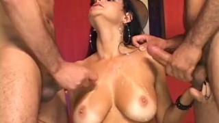 Bi Tastic - Scene 2  tan lines milf brunette bi cumshots 3some anal fmm pornhub.com raven trimmed blowjob