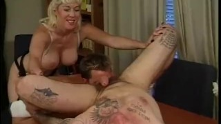 To Bi Or Not To Bi - Scene 3  strap on big tits pegging trimmed blonde blowjob skinny big dick milf bi cumshots pornhub.com small ass