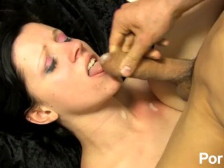 Cum-hungry french model fucks on camera for the first time