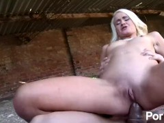 Blonde latina with natural small tits fucks for extra money