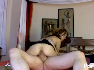 Skinny Spanish brunette gets ass destroyed