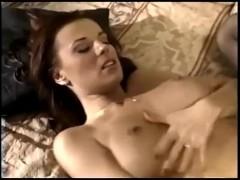 Sexy milf fucking in sheer black stoc...