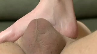 Foot slapping game from Amanda  feet trampling femdom fetish amateur pornstar