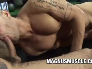Sports Men Lukas Bright and Tony Lee Ass Fucking During Practice