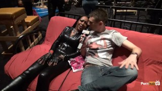 Preview 3 of PornhubTV Allan Gets Flogged at eXXXotica 2013