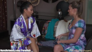 Preview 1 of NuruNetwork Asa Akira Lesbian Nuru Massage Sex