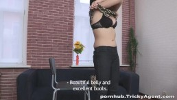 Tricky Agent - A girl in a black dress wants to be fucked!