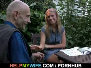 Wife fucks a total stranger while cuck watches