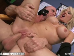 Slutty blonde paitent begs her doctor to give her some hard dick