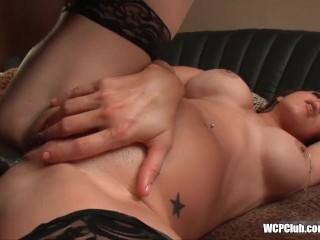 Cougar loves big black cock in her ass