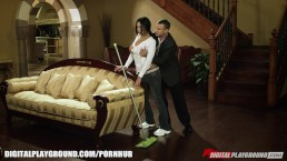 FIT Latina maid gets stripped searched and fucked on the job