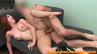 FakeAgent HD Fire kissed amateur takes creampie in casting  piercing real office interview point of view fake tits homemade french cumshot pov amateur casting