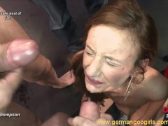 Gorgeous brunettes and blondes pleased cocks and got creamed