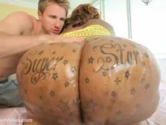 70 inch Ass Black BBW Fucks Huge Cock White Stud Levi Cash