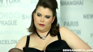 Strapon male domination performed by 2 BBW dominas bdsm femdom bbw chubby fat strapon