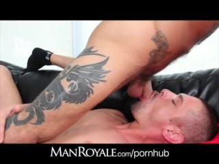 ManRoyale Waking the roomate to plow his ass