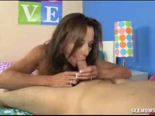 A Horny Mom Sucks Her Daughter's Boyfriend