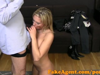 FakeAgent HD Bar girl looking for porn career