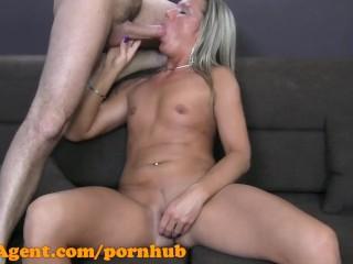 FakeAgent HD Blonde amateur fucks in casting