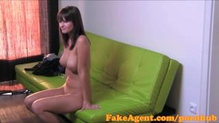 FakeAgent HD Massive natural tits amateur in casting