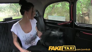 Preview 6 of FakeTaxi Busty brunette in anal creampie