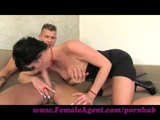 FemaleAgent. Nymph stripper delights MILF
