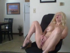 Sexy Blonde Barbie Blaze gets hormy on the job and has a orgasm