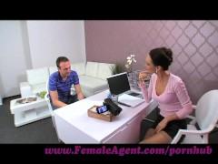 FemaleAgent. MILF seduces hesitant stud