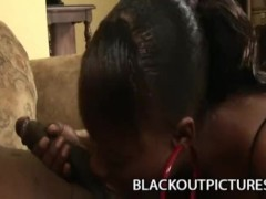 Busty Ebony Milf Nyeema Knoxxx Playing With A Long Black Shaft