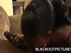 Busty Ebony Milf Nyeema Knoxxx Playing With A Long Black Shaft