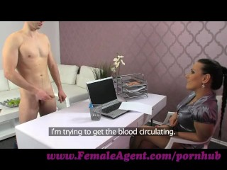 FemaleAgent. New MILF agent likes it fast and hard
