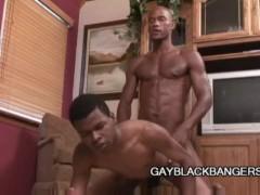 Gay Black Dudes Having A Hardcore Anal Sex