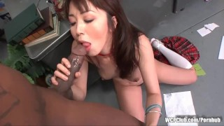 Preview 4 of Tiny squirting Asian girl gets fucked by a huge black cock in the ass