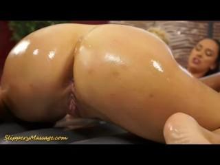 Big tits lesbians slippery massage sex and pussy finger