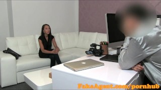Preview 1 of FakeAgent Young stripper takes creampie in casting