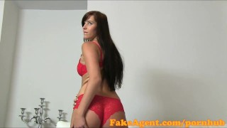 Preview 3 of FakeAgent Cute brunette gets creampie in casting