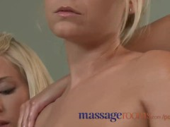 Massage Rooms Hot girl enjoys horny lesbian massage and has hardcore orgasm