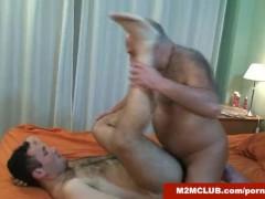 Daddy bear fucking his cub