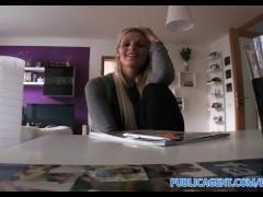 PublicAgent HD Hot blonde Engilsh tutor fucks her student