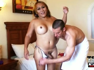Mexican shemale Tonya gets fucked by the TSFucker