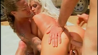 WHITE TRASH WHORE 4 - Scene 1  ass fuck ass fucking dp redhead blonde cumshot big dick busty 3some anal facial fmm pornhub.com huge tits