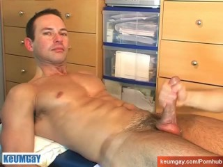 Marco get wanked his huge cock by me !