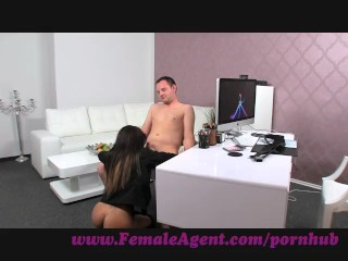 FemaleAgent. Lucky amateur gets the casting of a lifetime